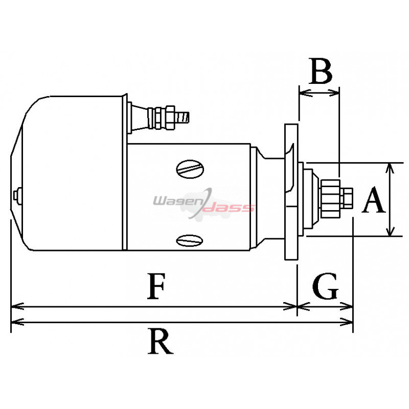 Démarreur remplace Bosch BNG4/24CRS162 / 9000084018 / 0001416076