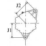 Alternator ISKRA replacing BOSCH 0120339525 / 0120339524