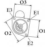 Démarreur NEUF remplace Magneti Marelli E100-1.3/12V8 / 63222506 / 63222438