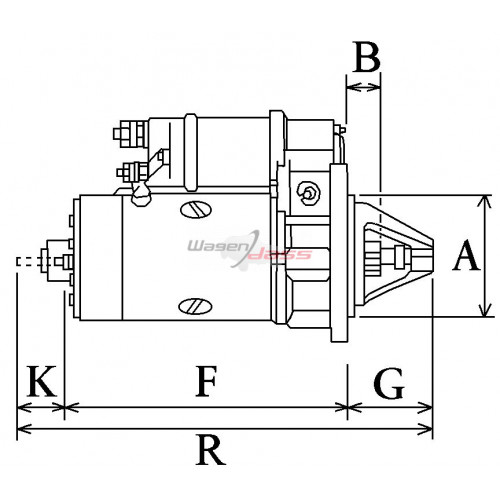 Démarreur remplace FORD R98VB11000B1A / R835X11000AC / R835F11000BB