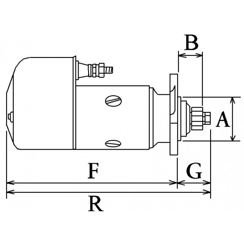 Démarreur remplace Bosch BNG4/12 / 0001418002 / 0001413003