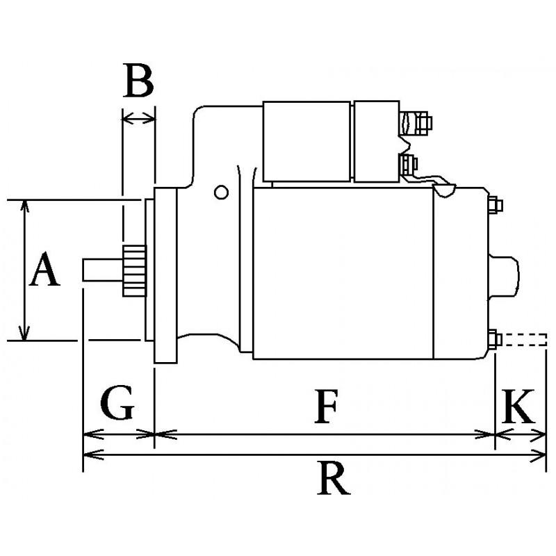 Démarreur remplace Bosch 9000042021 / 0001211998 / 0001211997
