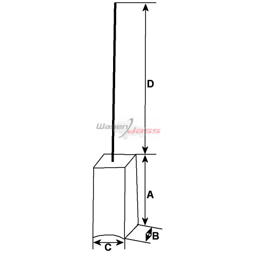 Kohlensatz für lichtmaschine BOSCH 0120450029 / 0120400944 / 0120400945