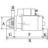 Starter replacing BOSCH 0001107024 for Bertolini / FERRARI / GOLDONI /LOMBARDINI