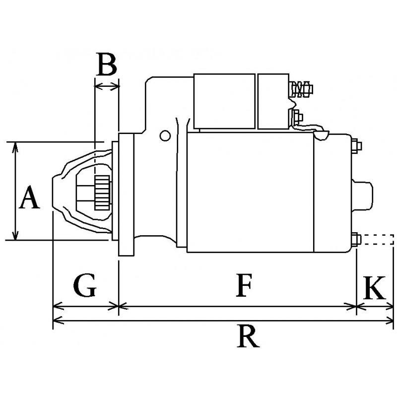 Démarreur remplace Bosch 0001107024 pour Bertolini / Ferrari / Goldoni /Lombardini