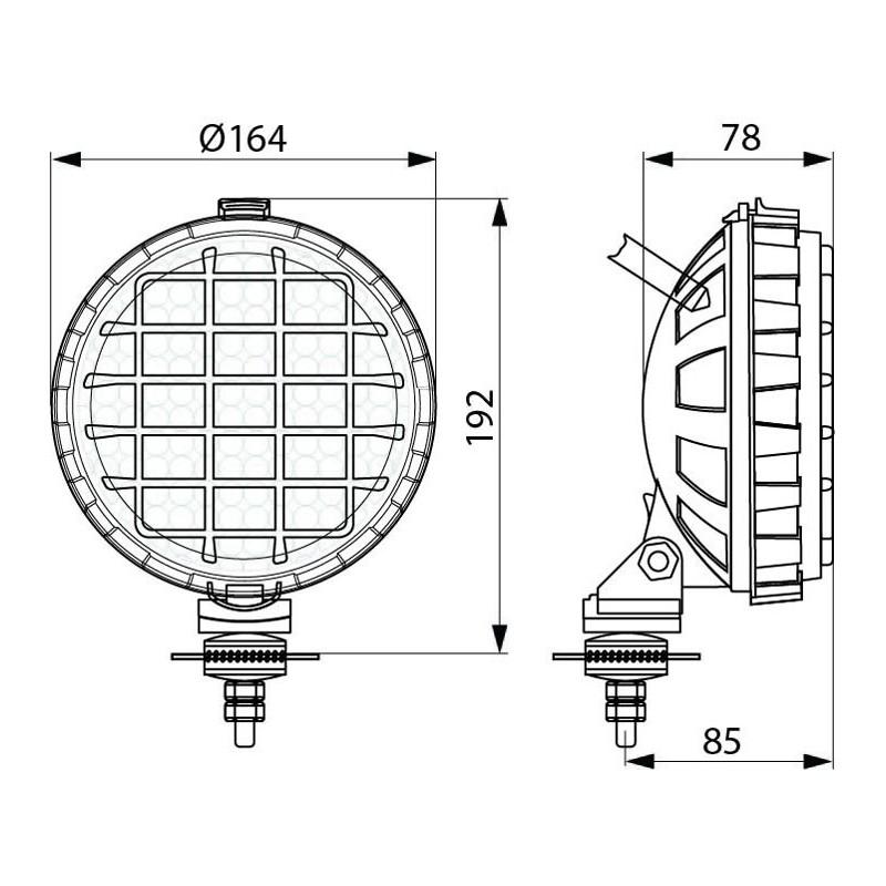 Work Lamp Round 136 mm H3