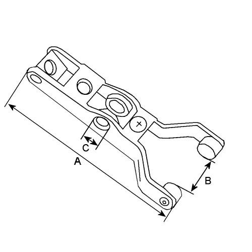 Fourchette pour démarreur Mitsubishi M5T20172 / M5T22175 / M5T22176