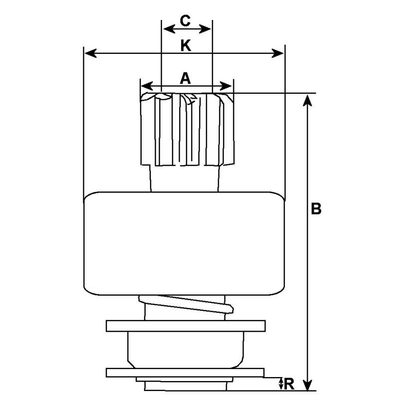 Ritzel für anlasser D11E109 / D11E142 / D11E143 / D11E159
