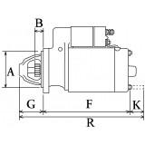Starter replacing BOSCH 0001218161 / 0001109031 for LOMBARDINI