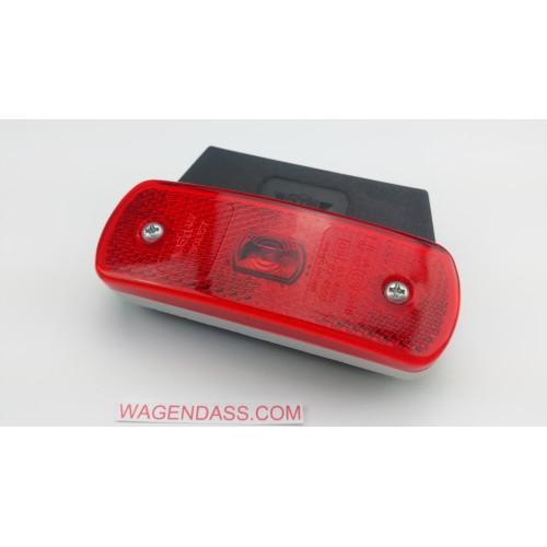 Feu arrière rectangulaire à LED 12 / 24 volts