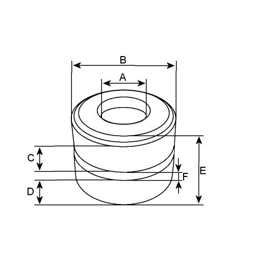 Slip Ring for alternator VALEO 2541298 / 2541298A / SG12B039
