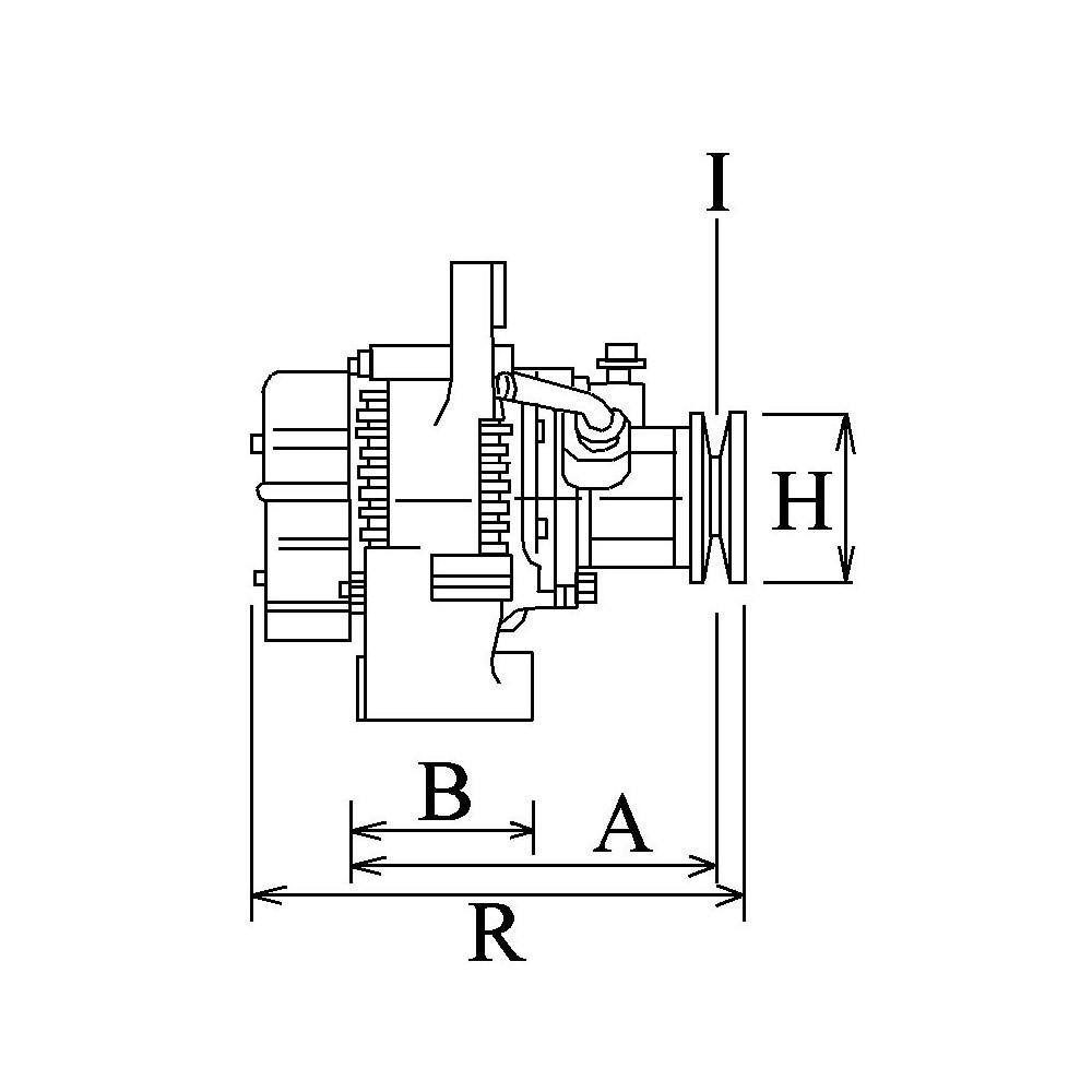 Alternateur Remplace Bosch 0124320002    0986042670 Pour Mascott    Master I