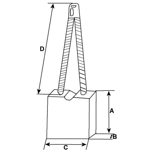 Brush set / - for starter Magneti Marelli MT67 / 63216725 / 63216726