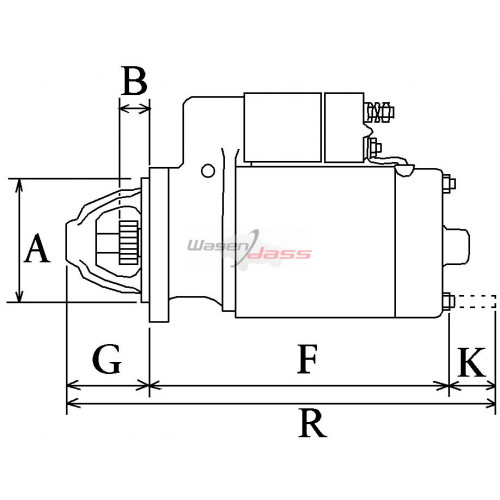 Anlasser ersetzt BOSCH 0001317023 / 0001110105 / 0001110104