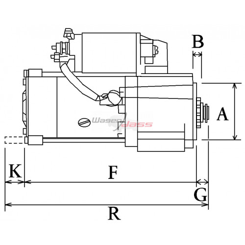 Démarreur remplace Hitachi s13-514 / S13-555 / S13-555A
