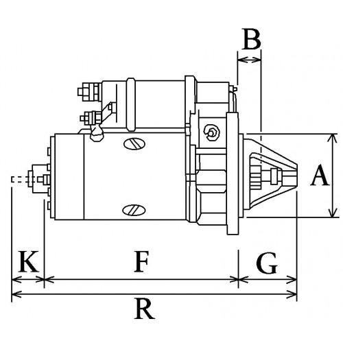 Démarreur remplace Bosch B001111475 / 0001114021 / 0001114017 / 0001114008