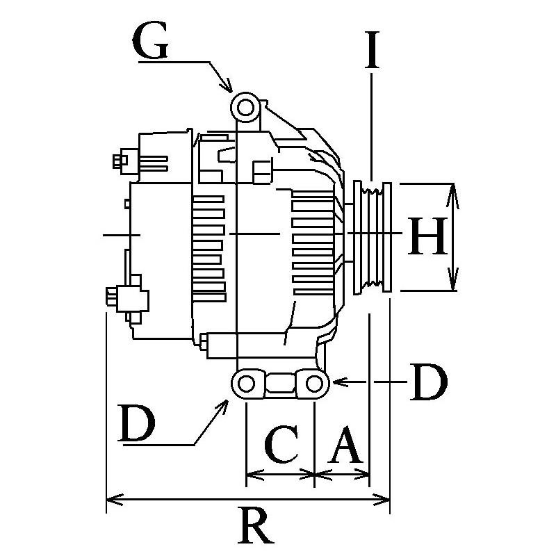 Alternateur remplace Valéo Tg17c026 / 2542845 / 2542845A