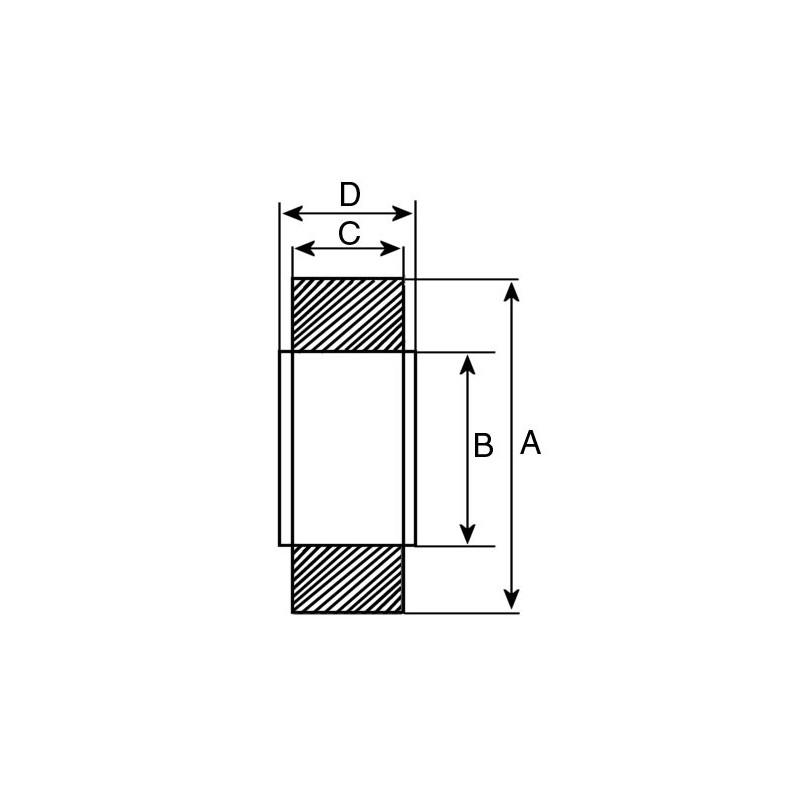 Ball Bearing for starter MITSUBISHI M1T50071 / M1T50171 / M1T50172