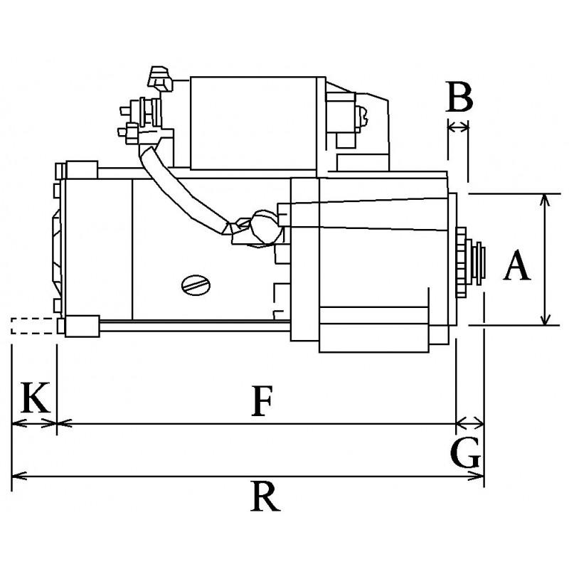 Démarreur remplace Mitsubishi M1T60381 / M1T60081