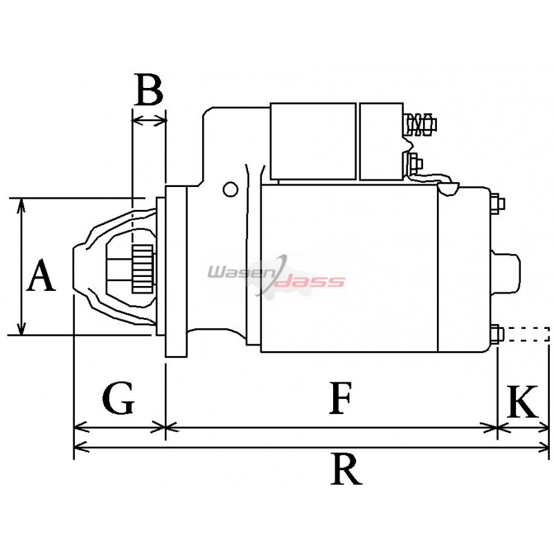Démarreur remplace Bosch 0001114020 / 0001114014 / 0001113009