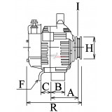 Alternateur remplace Mitsubishi MD130329 / A3T03493ZC / A3T03493