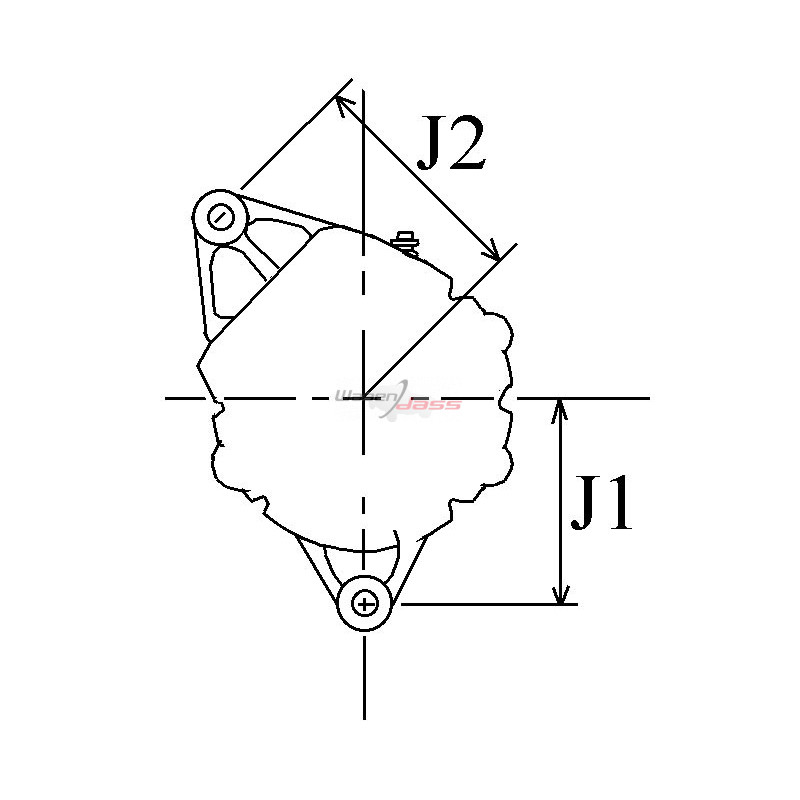Alternateur remplace Mitsubishi A3T45694 / A3T45693ZC / A3T45693
