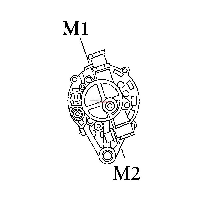 Alternateur remplace Mitsubishi MD124233 / MD106320 / MD106319