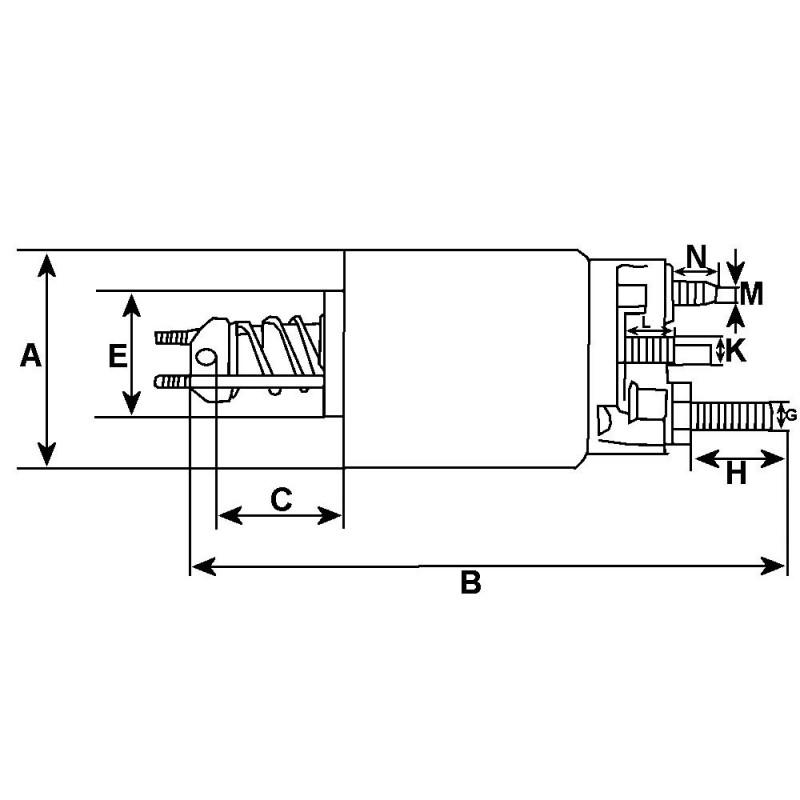 Solenoid for starter HITACHI s13-160 / s13-204 / s13-205