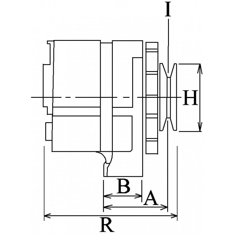 Alternateur remplace Bosch 0123525501 pour MAN / Neoplan