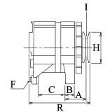 Alternateur remplace Mitsubishi A5TA6291ZEC / A5TA6291ZEB / A5TA6291H