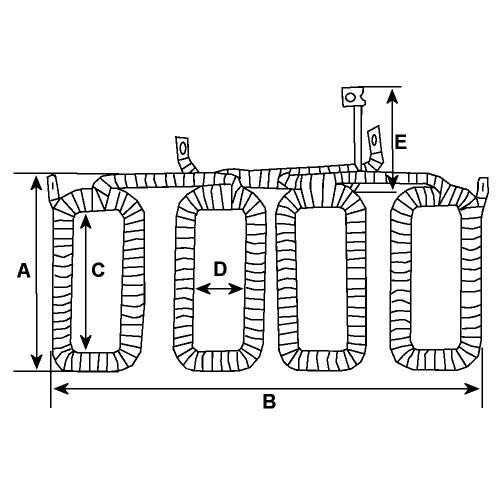 -'Field coil for Starter-Generator BOSCH 0101209031 / 0101209032 / 0101209033