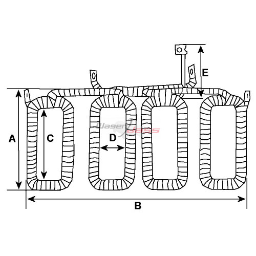 -'Field coil for dynamo BOSCH 0101209031 / 0101209032 / 0101209033