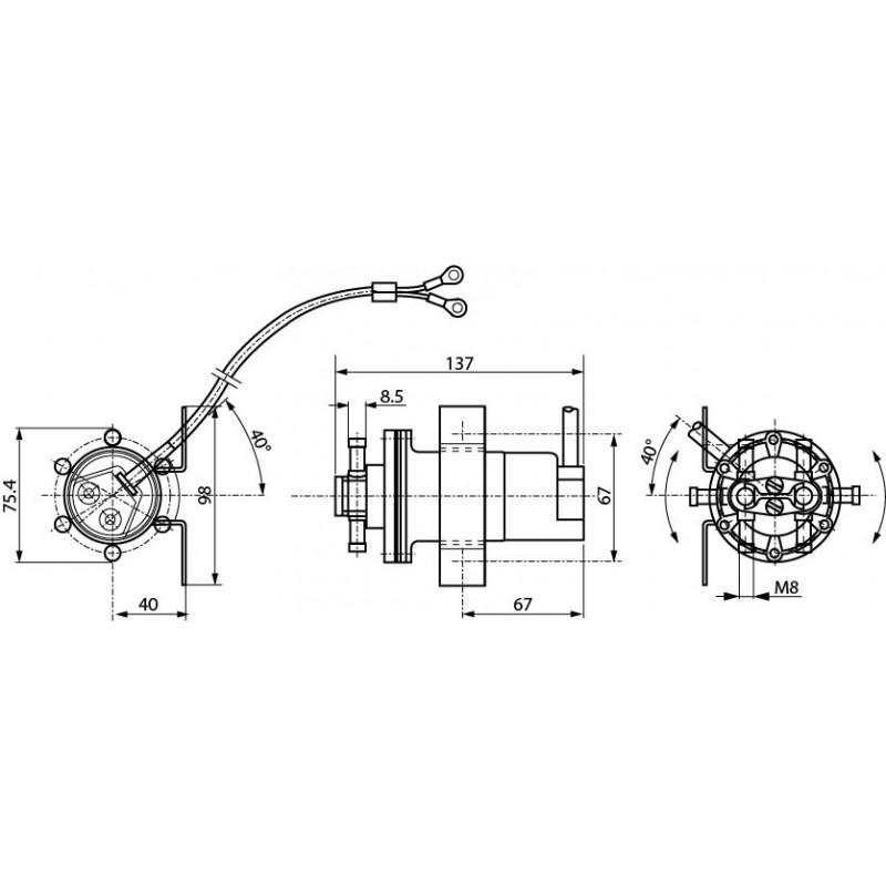 Pompe à carburant universelle 12 volts
