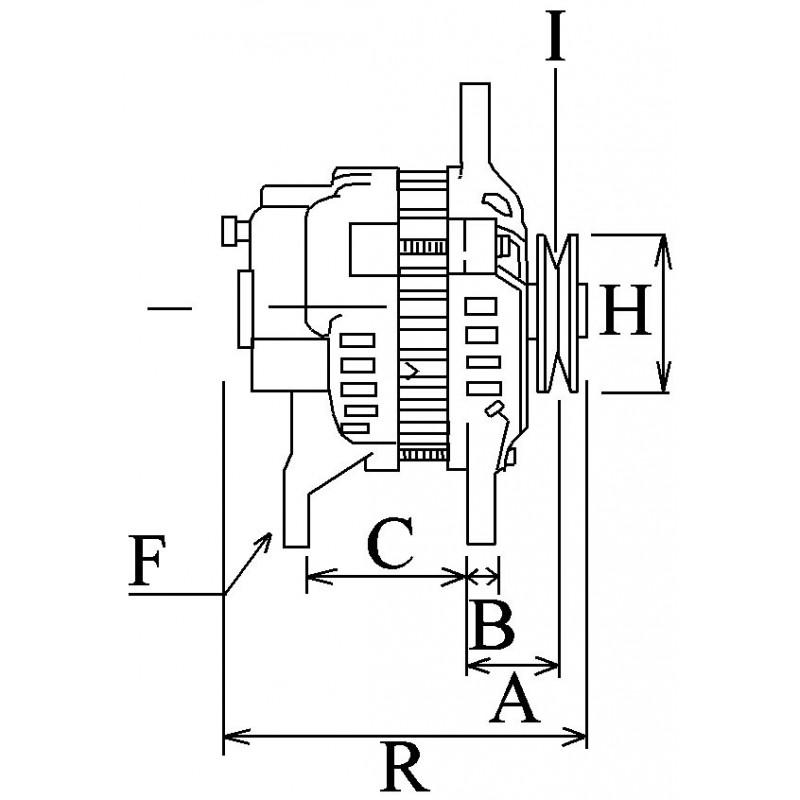 Alternateur remplace Bosch 0124515034 / 0124515027 / 0124515024
