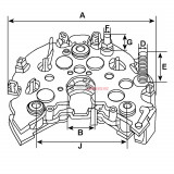 Pont de diode pour alternateur Hitachi LR1100-502 / LR1100-502B / LR1100-502C