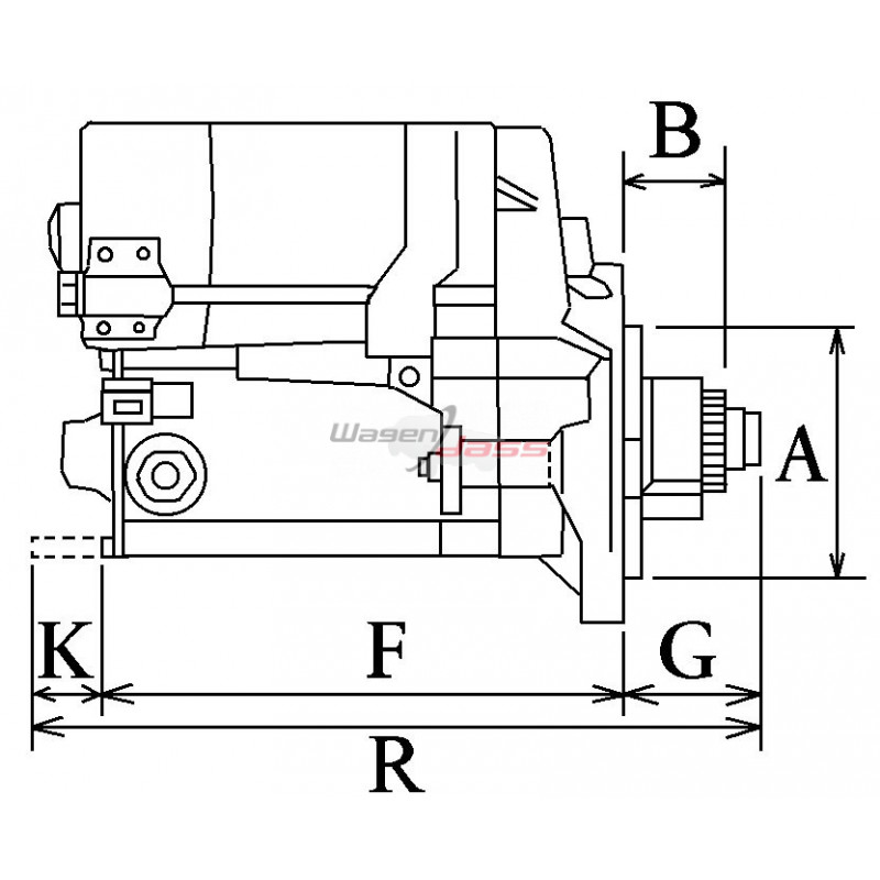 Démarreur remplace Mitsubishi M2T74171 / M2T57773 / M2T57771
