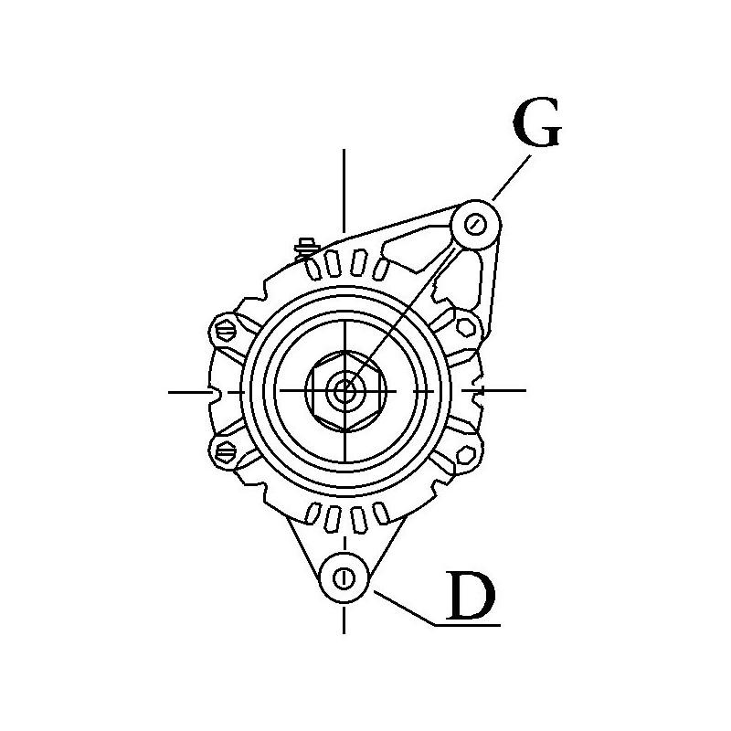 Alternator replacing LUCAS 24207 / 24217 / 24334 / 54022275
