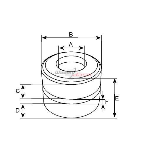 Slip Ring for alternator DENSO 021000-0140 / 021000-2470 / 021000-3630