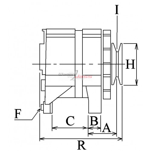 Alternator replacing MAGNETI MARELLI 63321617 / 63321361 / 63321276