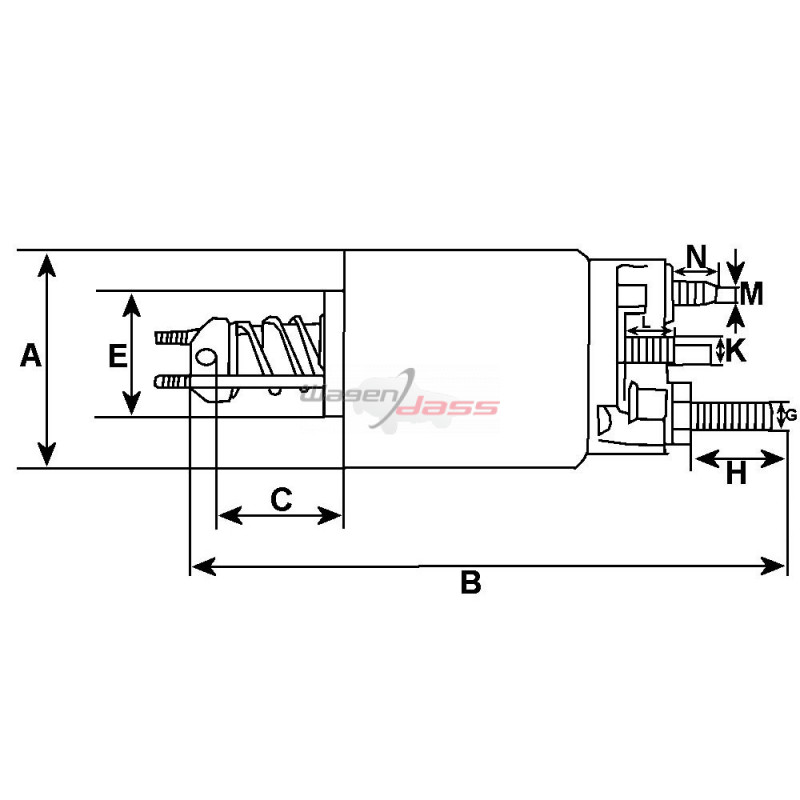 Magnetschalter für anlasser BOSCH 0001107408 / 0001113006 / 0001116005