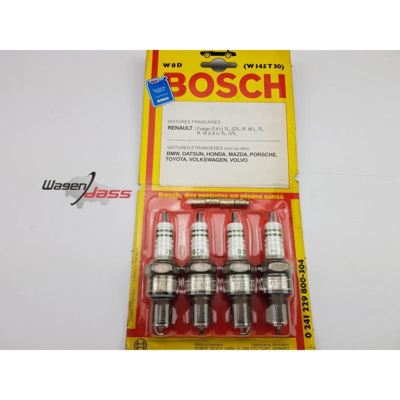 Jeu de 4 bougie d'allumage Bosch W8D / W145T30