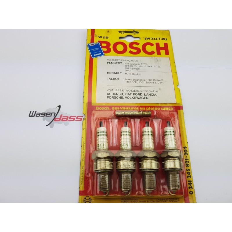 Jeu de 4 bougie d'allumage Bosch W5D pour 204 / 404 / R17