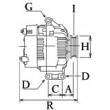 Alternateur remplace Denso 104210-6080 / Chrysler 4801338AB