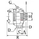 Alternateur valéo FG18S077 / Mercedes A0009067900