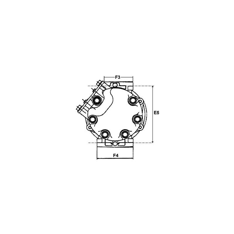 AC compressor replacing DENSO 447170-2401 / 447170-2400 / 447100-2385