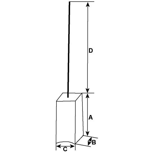 Jeu de balais pour alternateur Hitachi LR140-112E / LR140-119 / LR140- 119C