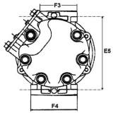 Klima-Kompressor ersetzt SANDEN SD7H15-U4637 / SD7H15-4637