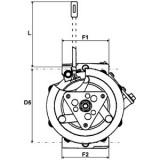 Compresseur de climatisation remplace Sanden SD7H15-4864