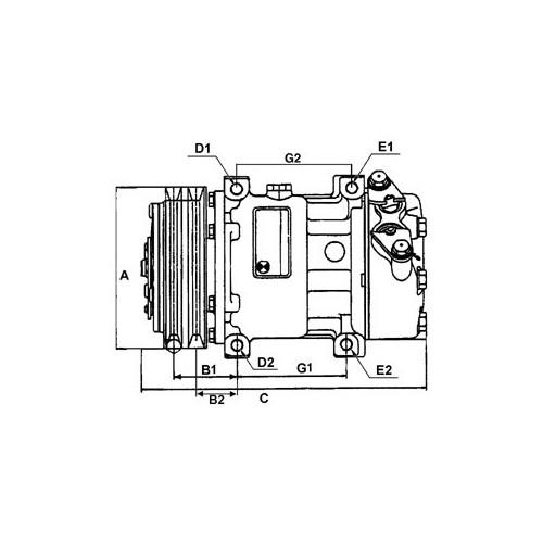 Compresseur de climatisation remplace Denso 447200-4933 / 447100-9794