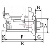 Anlasser für DENSO 228000-1021/ 228000-1020 for KUBOTA
